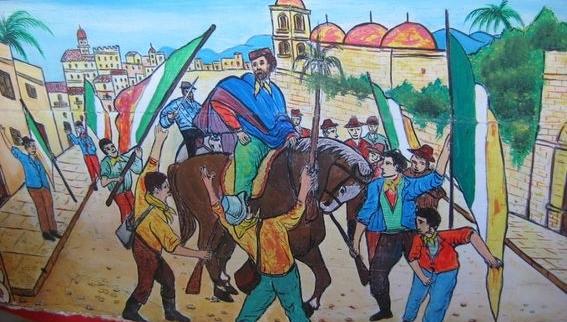 """27 Maggio 1860 - Giuseppe Garibaldi e i suoi """"picciotti"""" entrano trionfalmente a Palermo"""