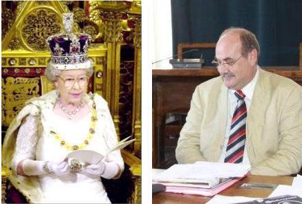 La regina Elisabetta e il presidente del consiglio comunale Previti