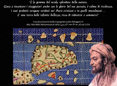 Così descriveva la Sicilia il geografo arabo di Ruggero II   Abū 'Abd Allāh Muhammad al-Idrīsī  (أبو عبد اللّه محمد الإدريسي) nel 1154